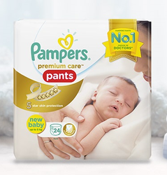 Pampers Premium-Care Pants For Newborns Baby