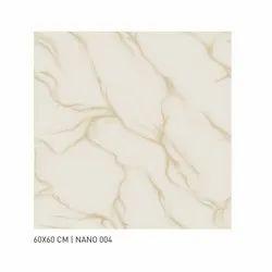 Ceramic Nano Polished Floor Tile, Size: 60 * 60 In cm, Packaging Type: Carton