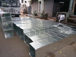 Galvanized Iron Rectangular Gi Square Shape Ducts, For Industrial