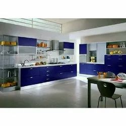 Granite Metal Modern Modular Kitchen