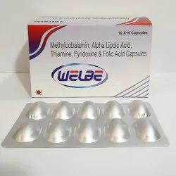 Methylcobalamin, Alpha Lipoic Acid Thiamine, Pyridoxine & Folic Acid Capsules