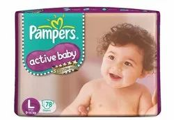 Pampers Active Baby Diapers L-78