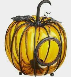 Glass handicraft pumpkin, For Home, Size/Dimension: 8 Inch