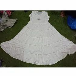 Cotton Ladies White Kurti With Shrug