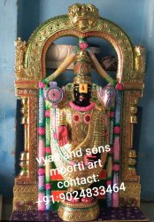Exquisite Black Tirupati Balaji Moorti From Marble