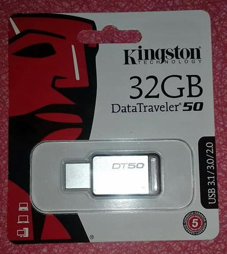 SanDisk Silver Kingston 32 GB Pen Drive, Model Name/Number: 32GB, Capacity: 32GB
