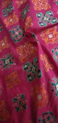Pink Silk India Heavy Patola Fabric, for Garments, GSM: 100-150