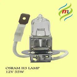 H3 12V 55W Osram Bulbs