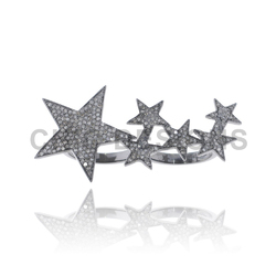 Star Two Finger Diamond Ring