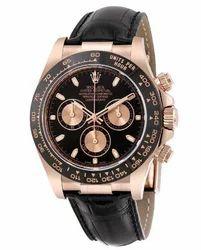 Unisex Rolex Rose Gold Brown Watch
