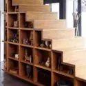 Brown Wooden Designer Staircase