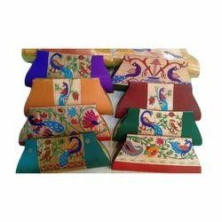 Semi Silk Paithani Clutch