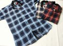 Cotton Regular Wear Kids Check Shirts