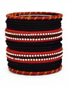 Black and Red Silk Thread Bangle