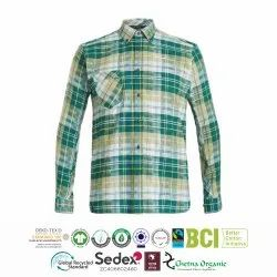 Organic Cotton Recycle Polyester Flannel Mens Shirts