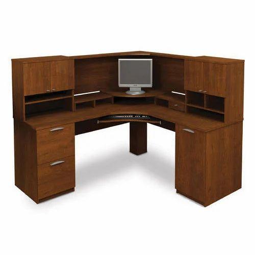 Brown Corner Desk Computer Workstation