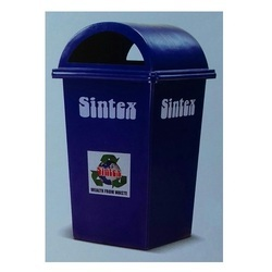 Green And Blue Rectangular Waste Bins