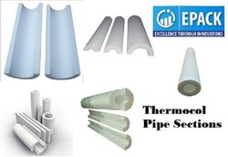 White Thermocol Pipe Insulation