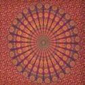 Indian Dark Peacck Mandala Print Duvet Doona Cover