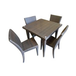 Universal Furniture Balcony Brown Table with 4 Chairs