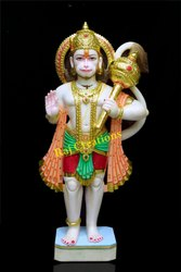 Raj Creations Marble Hanuman Statue