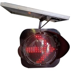 Red LED Solar Blinker Arrow