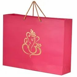 Brown Printed Paper Bag, For Shopping, Capacity: 5kg