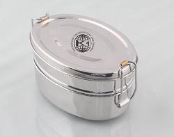 Stainless Steel Oval Tiffin