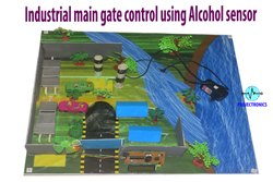 Industrial Main Gate Control Using Alcohol Sensor Project Model