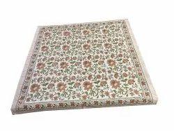 Floral Design Cotton Runner
