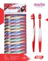 Polypropylene Merlin Ruby Soft Toothbrush For Tooth Cleaning