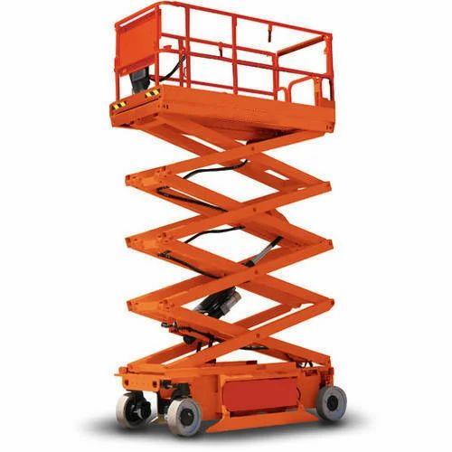 10 Feet Electric Scissor Lift Capacity 0 3 0 5 Ton Rs