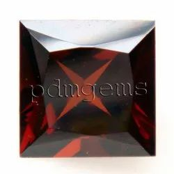 Garnet Faceted Square Gemstone