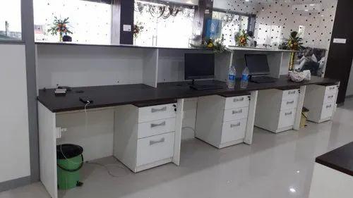 new photos 7e501 3796c Hrishikesh Engineering Custom Office Workstation Table, for ...