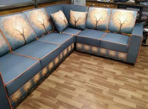 Digital Printed L Shape Sofa