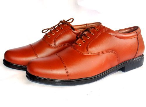 Tan Colour Leather Police Shoes at Rs 799 /pair | Vikas Nagar ...