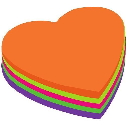 heart shape die cut sticky notes at rs 30 piece sticky notes