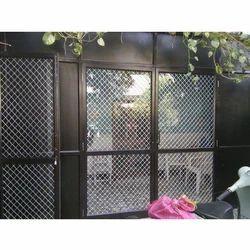 Brown Standard Aluminium Glass Door