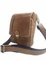 Push Lock Closure Suede Leather Satchel Bag