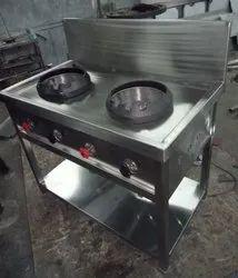 jindal Mild Steel Chinese Gas Burner, 2, Size: 48x24x34+12
