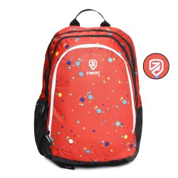 Polka-Dots-Red School Bag