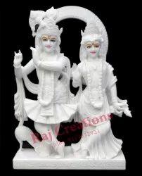 Raj Creations Marble Radha Krishna Jugal Statue