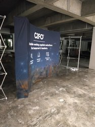 Fabric Pop-Up Curved Display