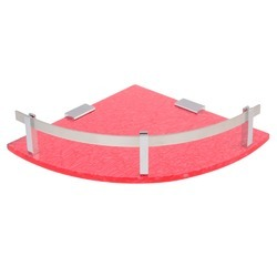 7x7 And 11x11 Blue And Pink Acrylic Corner Shelf, Shape: Round