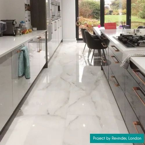 White Marble Floor Tiles Thickness 16 Mm Shape Square Rs 38 Square Feet Id 22069889433