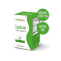 NutroActive Powder Lipolyzer Herbal Slimming Tea, Packaging Type: box, Packaging Size: 100 Gm
