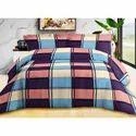 Check Printed Cotton Bed Sheet