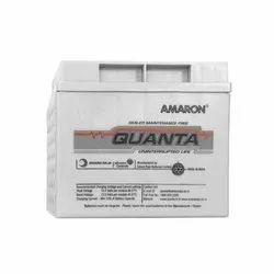 65 Ah Amaron Quanta SMF Battery, 12v, Model Number/Name: 12al065