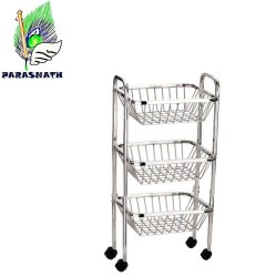 Parasnath Stainless Steel Fruit and Vegetable Basket
