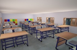 Student Classroom Table and Chair